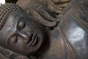 Carved Buddha Heads, Phnom Penh, Cambodia, Southeast Asia by Alex Robinson
