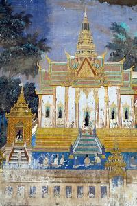 Detail from the Reamker Murals (Khmer Version of the Ramayana), Royal Palace, Phnom Penh, Cambodia by Alex Robinson