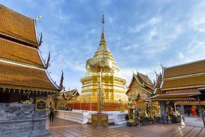 Doi Suthep Temple, Chiang Mai, Thailand, Southeast Asia, Asia by Alex Robinson