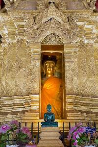 Emerald Buddha and Golden Buddha in the Main Bot of Historic Wat Phra That Lampang Luang Temple by Alex Robinson