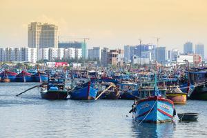 Fishing boats in the harbour in Danang, Quang Nam, Vietnam, Indochina, Southeast Asia, Asia by Alex Robinson