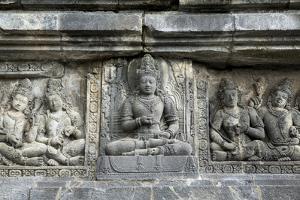 Hindu Carvings on the Prambanan Temples, UNESCO World Heritage Site, Near Yogyakarta by Alex Robinson