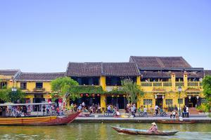 Houses and the river in the historic centre of Hoi An, UNESCO World Heritage Site, Quang Nam, Vietn by Alex Robinson