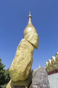 Nwa-La-Bo Pagoda Golden Rock and Pagoda Near Mawlamyine, Mon, Myanmar (Burma), Southeast Asia by Alex Robinson