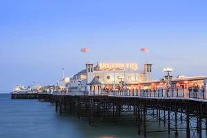 Palace Pier, (Brighton Pier), Brighton, Sussex, England, United Kingdom, Europe by Alex Robinson