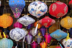 Paper lanterns for sale in a shop in Hoi An, Quang Nam, Vietnam, Indochina, Southeast Asia, Asia by Alex Robinson