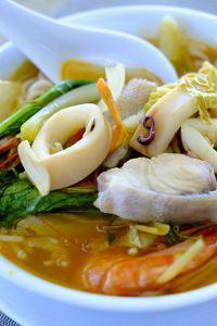Seafood soup, Vietnamese food, Vietnam, Indochina, Southeast Asia, Asia by Alex Robinson