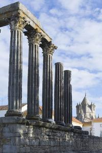 The Roman Temple of Diana and the Tower of Evora Cathedral by Alex Robinson