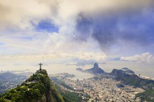 View of the Christ Statue, Sugar Loaf and Guanabara Bay. Rio De Janeiro, Brazil, South America by Alex Robinson