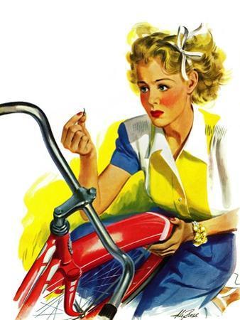 """Flat Bike Tire,"" July 24, 1943"