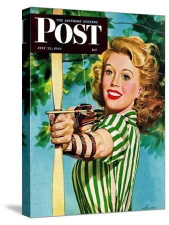 """Woman Archer,"" Saturday Evening Post Cover, July 22, 1944"