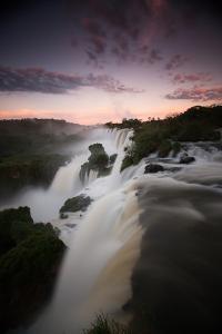 A Dramatic Sunset over Iguazu Falls by Alex Saberi