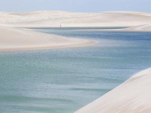 Brazil's Lencois Maranhenses Sand Dunes and Lagoons on a Sunny Afternoon by Alex Saberi