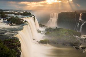 Iguazu Falls Waterfall at Sunset by Alex Saberi
