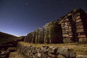 Inca Temple Ruins of La Chincana on Isla Del Sol in Lake Titicaca by Alex Saberi
