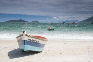 Pantano Do Sul Beach and Fisherman's Boat on Florianopolis Island in Southern Brazil by Alex Saberi