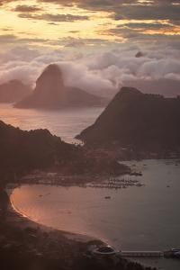 Rio De Janeiro at Sunset with Sugar Loaf and Christ the Redeemer From Niteroi by Alex Saberi