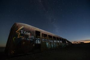 Rusty Train Relics in the Train Graveyard in Uyuni by Alex Saberi