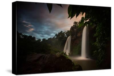 Salto Dos Hermanos Falls of the Iguazu Falls at Sunset