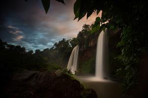 Salto Dos Hermanos Falls of the Iguazu Falls at Sunset by Alex Saberi