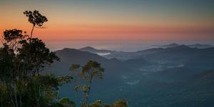 Sunrise Above Serra Do Mar State Park in Sao Paulo State, Brazil by Alex Saberi