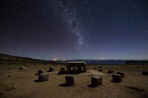 The Milky Way Spans the Night Sky Above an Inca Sacrificial Area Near the Santuario on Isla Del Sol by Alex Saberi