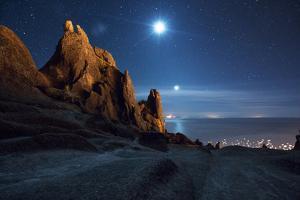 The Pre-Inca, Chiripa Culture, Horca Del Inca Ruins at Night Near Copacabana by Alex Saberi