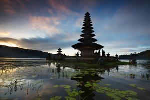 The Pura Ulun Danu Bratan Temple at Sunrise by Alex Saberi