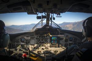 A View from Inside the Cockpit of a Twin Otter Plane Taking Off from Lukla Airport in Nepal by Alex Treadway