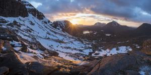 Hiking in the Scottish Highlands in Torridon along The Cape Wrath Trail. by Alex Treadway