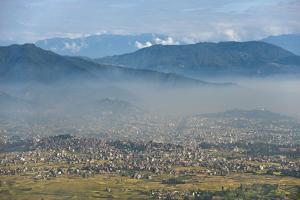 Kathmandu Valley Seen from the Top of Hatiban Resort by Alex Treadway