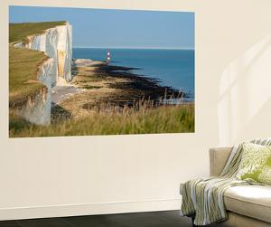 Looking Towards the Cliffs Near Beachy Head and the Lighthouse by Alex Treadway