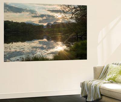 Sunset at Loughrigg Tarn Near Ambleside in the Lake District