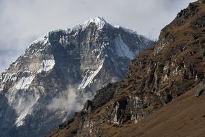 The looming face of Jomolhari, the third highest mountain in Bhutan at 7326m, seen from Jangothang, by Alex Treadway