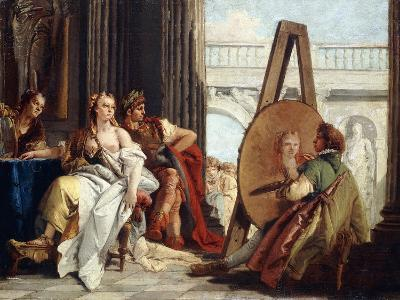 Alexander and Campaspe in the Studio of Apelles-Giovanni Battista Tiepolo-Giclee Print