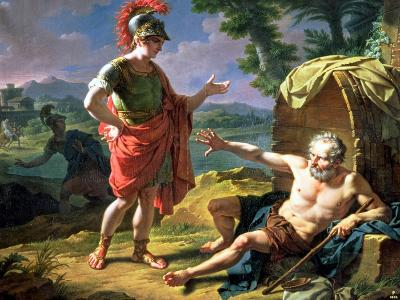Alexander and Diogenes, 1818-Nicolas Andre Monsiau-Giclee Print