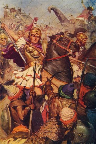 'Alexander at the Battle with Porus', 326 BC (c1912)-Unknown-Giclee Print
