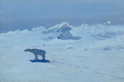 Polar Bear Hunting in the Moonlight, 1899