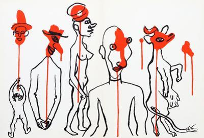 Circus 4 (Les Gueules Degoulinantes) from Derriere Le Miroir by Alexander Calder