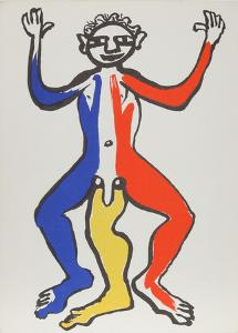 Derrier le Miroir (Acrobat (Blue, Yellow, Red)) by Alexander Calder