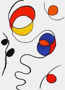 Derrier le Mirroir, no. 173: Composition II by Alexander Calder