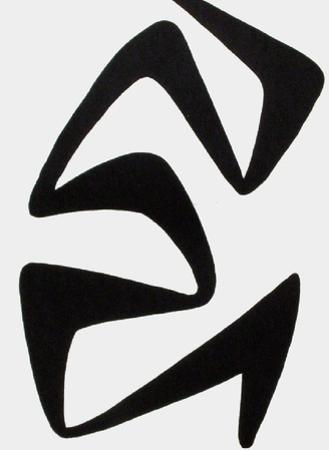 Derrier le Mirroir, no. 173: Composition IV by Alexander Calder