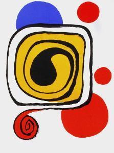 Derrier le Mirroir, no. 190: Composition III by Alexander Calder