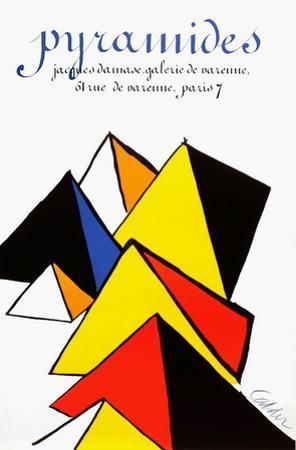 Expo 80 - Galerie Jacques Damase Pyramides by Alexander Calder