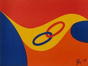 Flying colors II by Alexander Calder