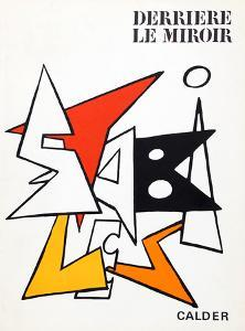 Stabiles I (Cover) from Derriere Le Miroir by Alexander Calder