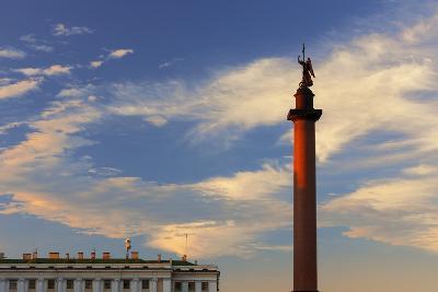 Alexander Column in Palace Square.-Jon Hicks-Photographic Print