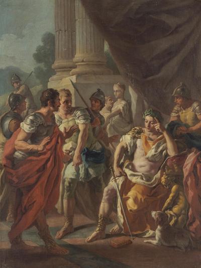 Alexander Condemning False Praise, 1760-9-Francesco de Mura-Giclee Print