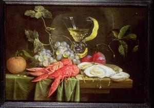 Still Life with Lobster, Oysters and Fruit by Alexander Coosemans