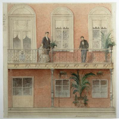 The Balcony Project for the Schwarz Family's House in the Estate Bely Kolodets, 1875